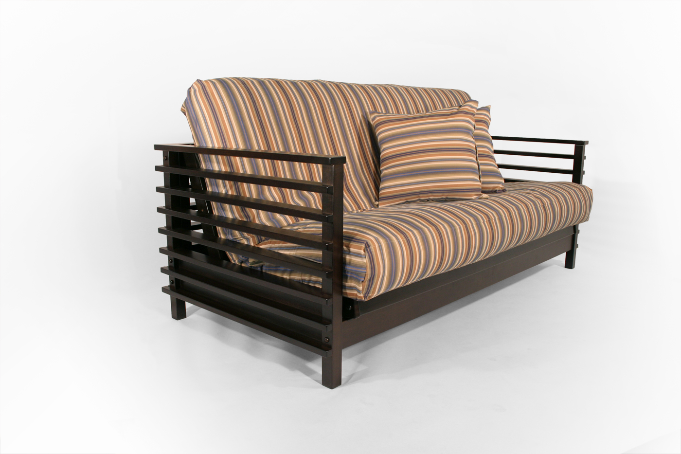 orion futon frame orion full black walnut