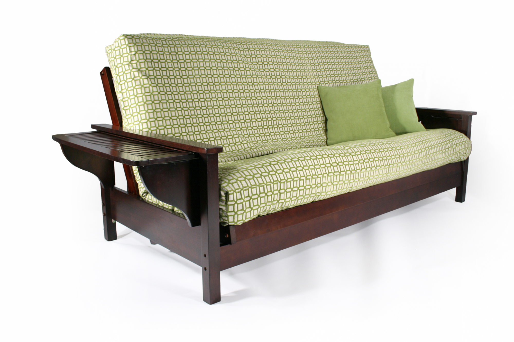 tiro futon frame tiro full dark cherry