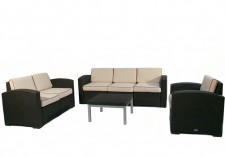 Cielo Patio Sofa, Loveseat, Chair & Table Package