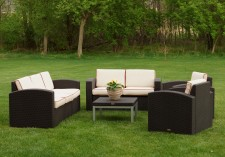 Cielo Patio Sofa, Loveseat, 2 Chairs & Table Package