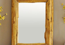 Natural Edge Teak Wall Mirror