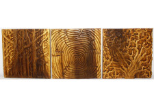 Tree of Life Teak Wall Panel Set