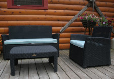 Gardenia Patio Loveseat, Chair & Table Package