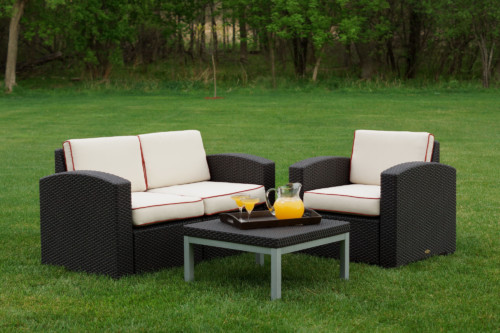 Cielo Patio Chair, Loveseat & Table Package